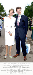 JAMES & JULIA OGILVY he is the son of HRH Princess Alexandra, at the Chelsea Flower Show in London on 19th May 2003.PJR 23