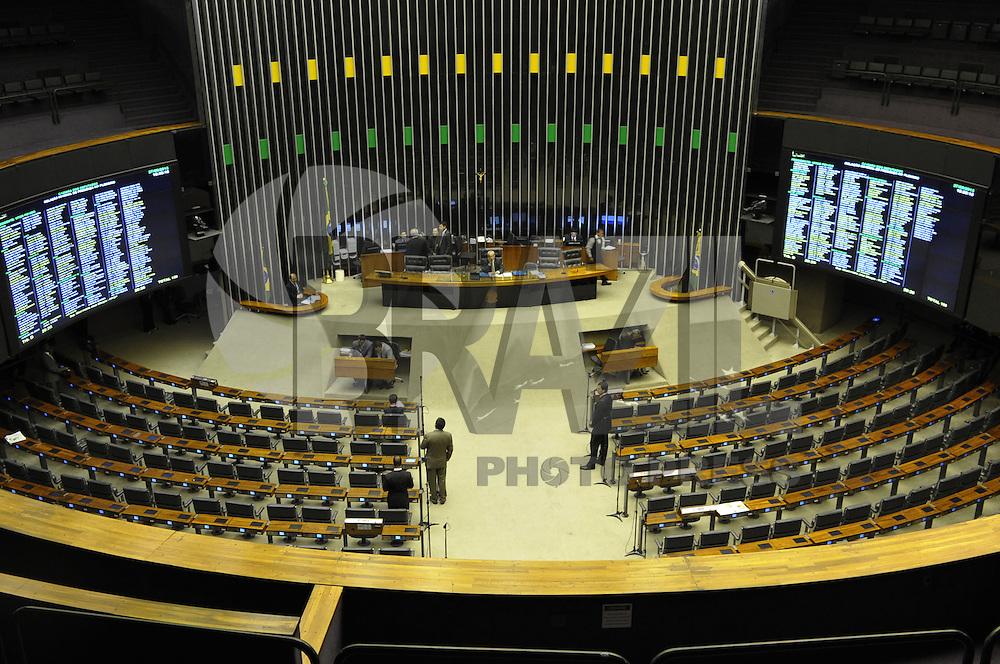 BRASILIA, DF, 27.08.2013 - CAMARA DOS DEPUDADOS - Plenario Ulysses Guimaraes na Camara dos Deputados é vista vazia neste terça-feira, 27. (Foto: Renato Araujo / Brazil Photo Press).