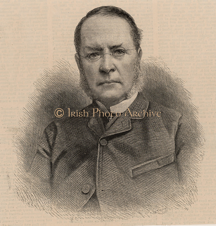Lyon Playfair (1819-1898) in 1885 when President of the British Association for the Advancement of Science.  Scottish chemist and politician. He studied chemistry at Glasgow under Thomas Graham, and under Liebig at Giessen.  Professor chemistry at Edinburgh university 1858-1896. Discovered the nitroprusside class of salts. Chemist to the Geological Survey, 1846.   Liberal MP for the universities of Glasgow and Edinburgh 1868-1885. Secretary of State for Science and Art 1855. Deputy Speaker of the House of Commons 1880-1883.  From 'The Illustrated London News' (London, 12 September 1885).