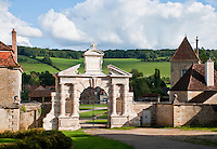 Entrance Gate to Chateau Commoron, France.