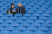 Brighton & Hove Albion FC supporters ahead of the FA Cup fourth round match between Brighton and Hove Albion and West Bromwich Albion at the American Express Community Stadium, Brighton and Hove, England on 26 January 2019.