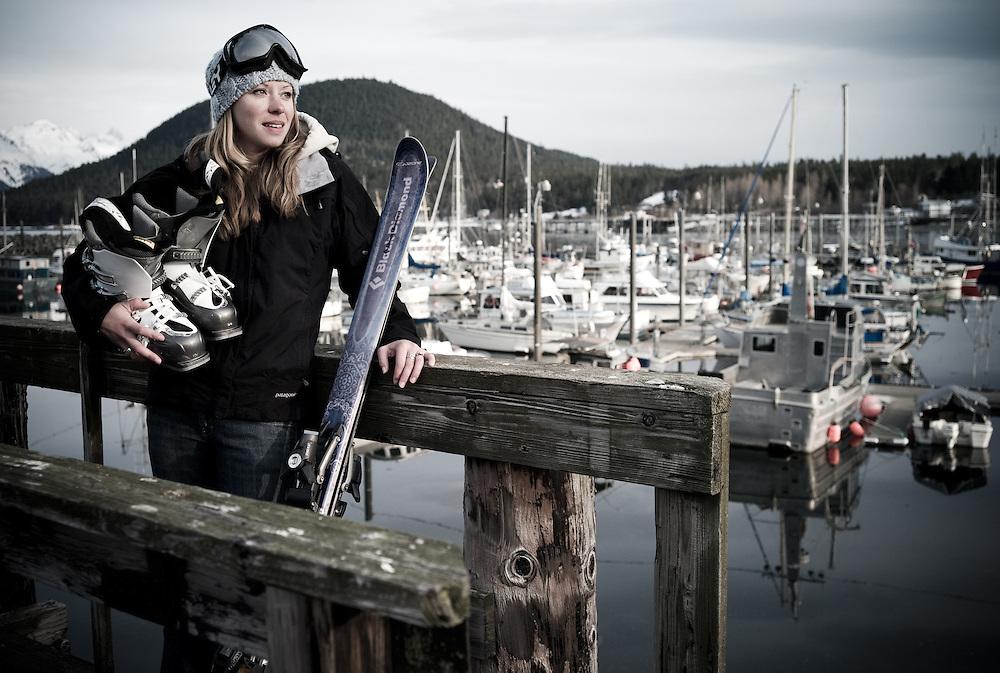Amy Dunbar, boat skipper & skier, Haines, Alaska.