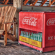 Rusting Coca Cola Cooler With Bottles - Eldorado Canyon - Nelson NV - HDR