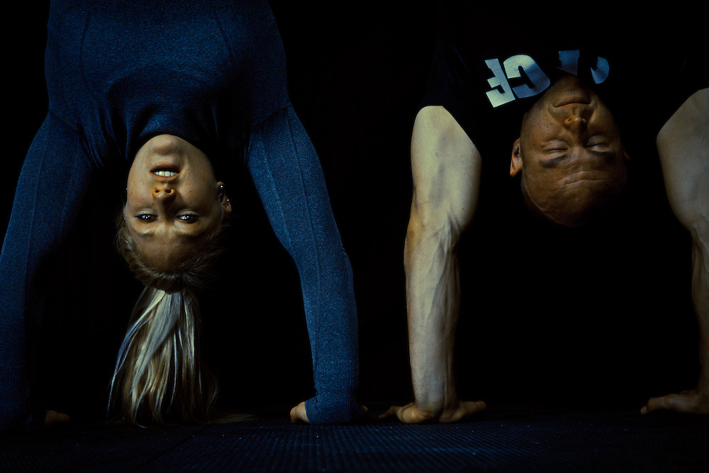 Jaelyn Wolf and Chris Hoppe  in a Hand Stand Pushup