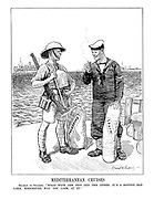 """Mediterranean Cruises. Seaman to Solder. """"What with one end and the other, it's a rotten old lake, whichever way you look at it!"""""""