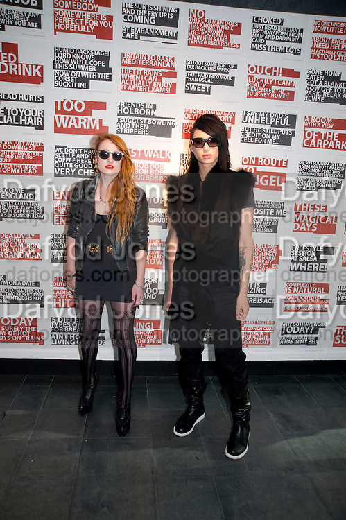 MILLIE BROWN; NAT WELLER, The Galleries of Modern London launch party at the Museum of London on May 27, 2010 in London. <br /> -DO NOT ARCHIVE-© Copyright Photograph by Dafydd Jones. 248 Clapham Rd. London SW9 0PZ. Tel 0207 820 0771. www.dafjones.com.