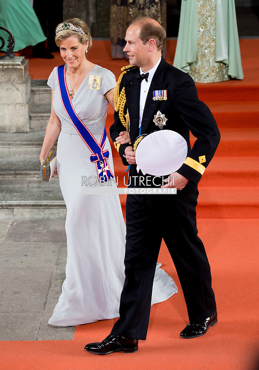 13-6-2015 STOCKHOLM   The Earl and Countess of Wessex, Edward and Sophie arrival of  for  .The wedding of Prince Carl Philip and Sofia Hellqvist  at the  Royal palace in Stockholm .COPYRIGHT ROBIN UTRECHT