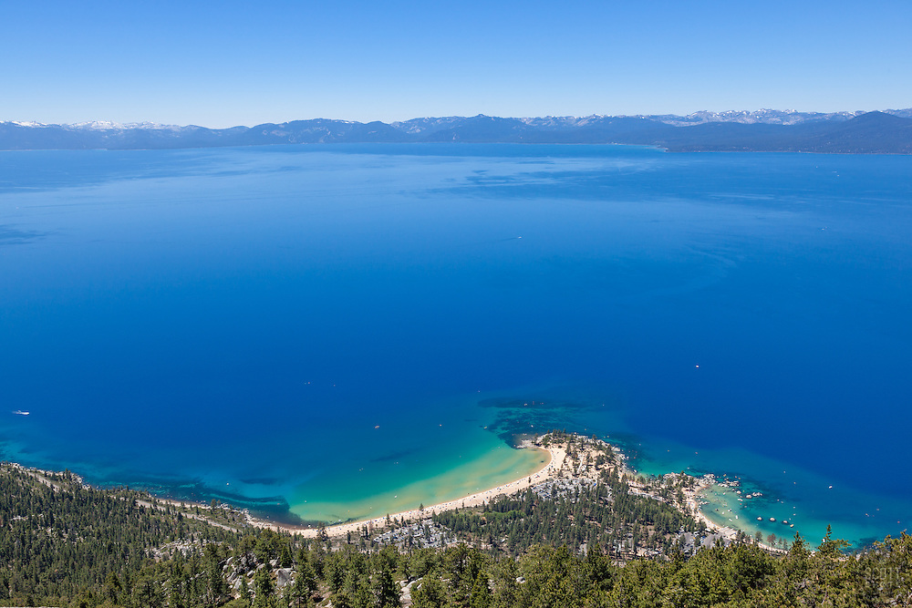 """Sand Harbor, Lake Tahoe 2"" - Photograph of Lake Tahoe shot above Sand Harbor."