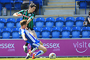 Peter Vincenti challenged Colchester United and Rochdale at the Weston Homes Community Stadium, Colchester, England on 8 May 2016. Photo by Daniel Youngs.