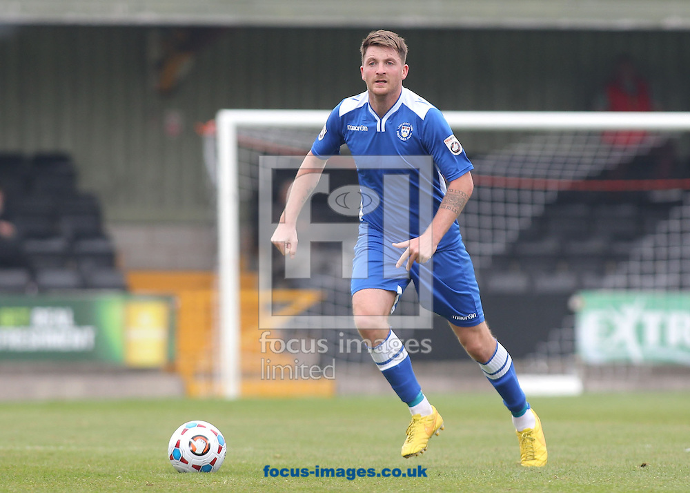 Andrew Fisk of Lowestoft Town in action against Hednesford Town during the National League North match at Keys Park, Hednesford.<br /> Picture by Michael Sedgwick/Focus Images Ltd +44 7900 363072<br /> 03/10/2015