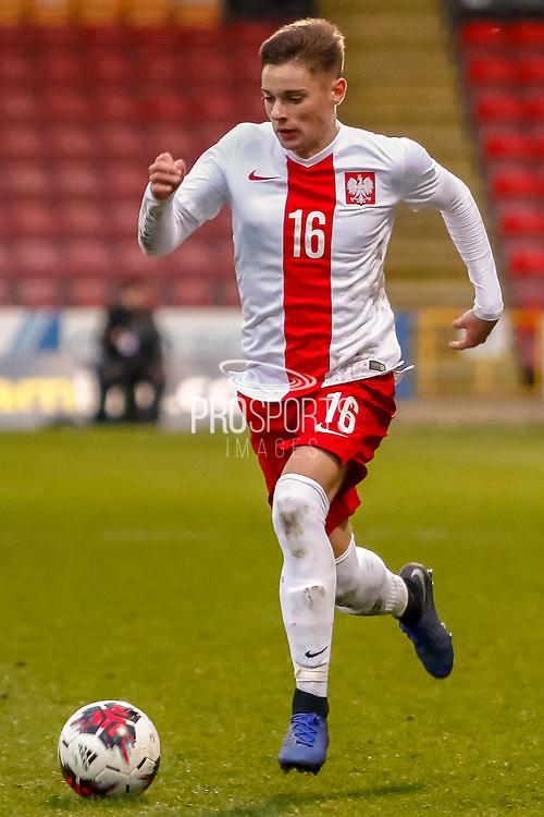 Nicola Zalewski during the U17 European Championships match between Scotland and Poland at Firhill Stadium, Maryhill, Scotland on 26 March 2019.