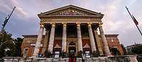 Budapest, Hungary.  Kunsthalle Budapest is a contemporary art museum located in Heroes' Square.