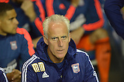 Ipswich Town manager Mick McCarthy watches the action  during the Sky Bet Championship match between Reading and Ipswich Town at the Madejski Stadium, Reading, England on 11 September 2015. Photo by Mark Davies.