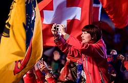 Fans during medal ceremony after the Flying Hill Individual  at 3rd day of FIS Ski Flying World Championships Planica 2010, on March 20, 2010, Planica, Slovenia.  (Photo by Vid Ponikvar / Sportida)