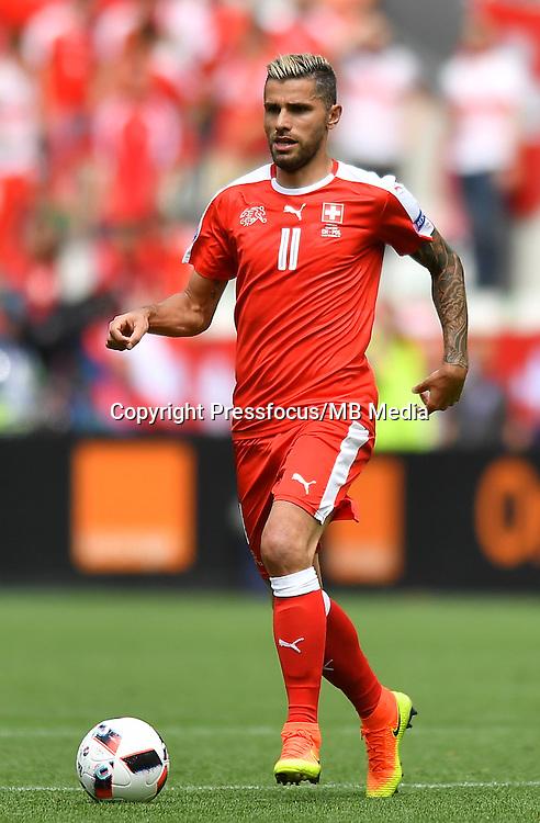 2016.06.25 Saint-Etienne<br /> Pilka nozna Euro 2016<br /> mecz 1/8 finalu Szwajcaria - Polska<br /> N/z Valon Behrami<br /> Foto Lukasz Laskowski / PressFocus<br /> <br /> 2016.06.25<br /> Football UEFA Euro 2016 <br /> Round of 16 game between Switzerland and Poland<br /> Valon Behrami<br /> Credit: Lukasz Laskowski / PressFocus
