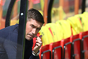 Harry Kewell during the EFL Sky Bet League 2 match between Cheltenham Town and Crawley Town at LCI Rail Stadium, Cheltenham, England on 4 August 2018. Picture by Antony Thompson.