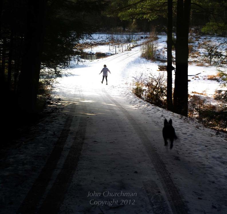 Laddie running to catch up