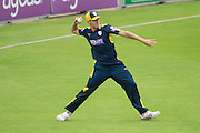 Brad Wheal of Hampshire during the Royal London One Day Cup match between Hampshire County Cricket Club and Somerset County Cricket Club at the Ageas Bowl, Southampton, United Kingdom on 2 August 2016. Photo by David Vokes.