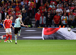Radja Nainggolan of Belgium scores the opening goal of the game  - Mandatory by-line: Joe Meredith/JMP - 01/07/2016 - FOOTBALL - Stade Pierre Mauroy - Lille, France - Wales v Belgium - UEFA European Championship quarter final