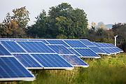 Security cameras monitor the Chelworth solar array. Wiltshire Wildlife Community Energy.