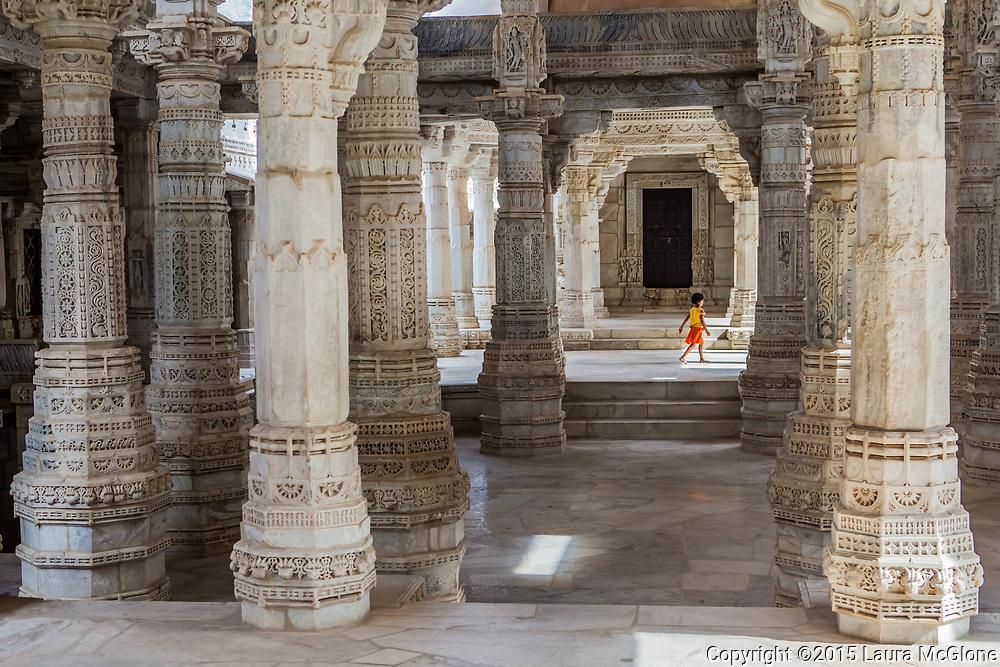 Ranakpur Jain Temple marble carving, India