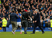 Football - 2019 / 2020 Premier League - Everton vs. Manchester United<br /> <br /> Everton manager Carlo Ancelotti walks off after being shown the red card by referee Chris Kavanagh when he and his players surrounded the referee after a VAR decision ruled out a late goal by Dominic Calvert-Lewin, at Goodison Park.<br /> <br /> COLORSPORT/ALAN MARTIN