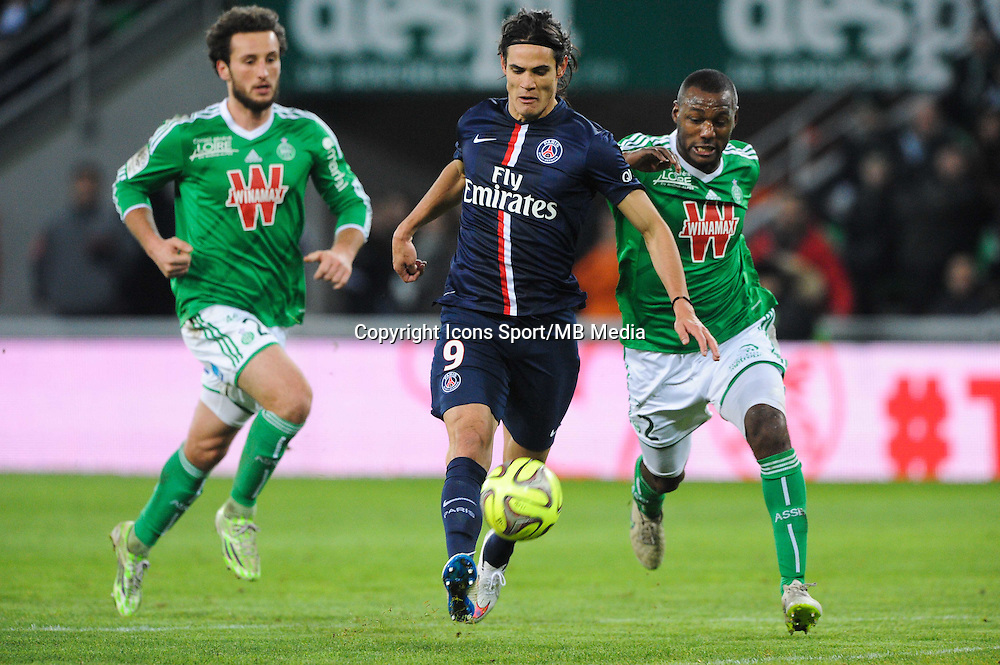 Edinson CAVANI - 25.01.2015 - Saint Etienne / PSG - 22eme journee de Ligue1<br /> Photo : Jean Paul Thomas / Icon Sport