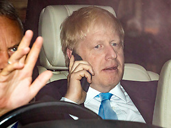 © Licensed to London News Pictures. 20/06/2019. London, UK. Former Foreign Secretary Boris Johnson, the frontrunner to become the next Leader of the Conservative Party and the next prime minister, returns to Parliament for the second leadership contest vote. The final two candidates will be put to the party membership in a ballot. Photo credit: Rob Pinney/LNP