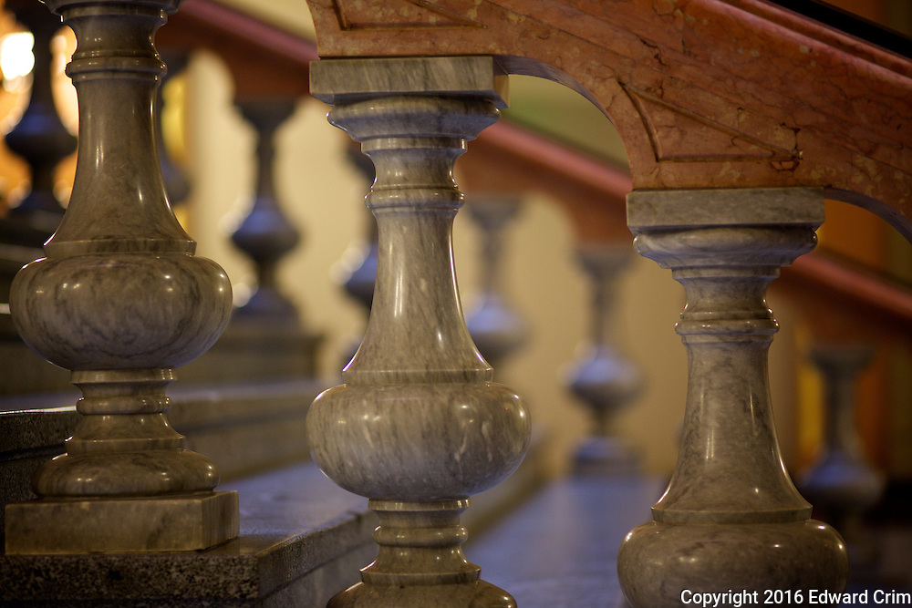 Balusters of the grand stair of the Illinois capitol.