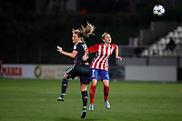 Atletico de Madrid´s Angela Sosa and Olympique Lyonnais´s Henry during UEFA Women´s Champions League soccer match between Atletico de Madrid and Olympique Lyonnais, in Madrid, Spain. November 11, 2015. (ALTERPHOTOS/Victor Blanco)