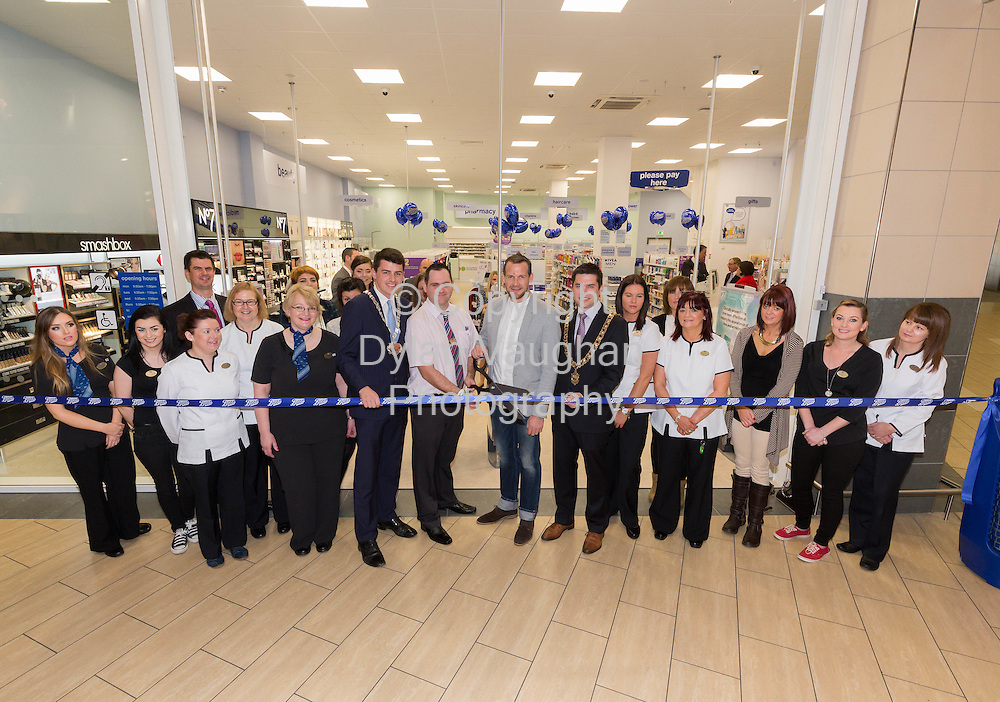 Repro free No Charge for Repro<br /> 1-10-14<br /> <br />  <br /> Pictured at the official opening of the new Boots store at Mac Donagh Junction Shopping Centre in Kilkenny on the 1st of October was  center from left Cllr. Patrick McKee Leas Cathaoirleach, Store Manger John Paul Walsh, All Ireland Kilkenny hurler Jackie Tyrrell and Mayor of Kilkenny Cllr. Andrew McGuinness.<br /> <br /> <br /> <br /> <br /> Picture Dylan Vaughan