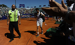 February 16, 2018 - Buenos Aires, Argentina - Guillermo Garcia Lopez during a tennis match against Federico Delbonis in Argentina Tennis Open in Buenos Aires on February 16,2018. (Credit Image: © Gabriel Sotelo/NurPhoto via ZUMA Press)