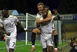 Ivan Toney of Peterborough United celebrates his goal - Mandatory by-line: Joe Dent/JMP - 20/08/2019 - FOOTBALL - Roots Hall - Southend-on-Sea, England - Southend United v Peterborough United - Sky Bet League One