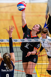 02-02-2019 NED: Regio Zwolle Volleybal - Sliedrecht Sport, Zwolle<br /> Round 16 of Eredivisie volleyball - Sliedrecht win the match 3-2 / Siska Hoekstra #2 of Zwolle