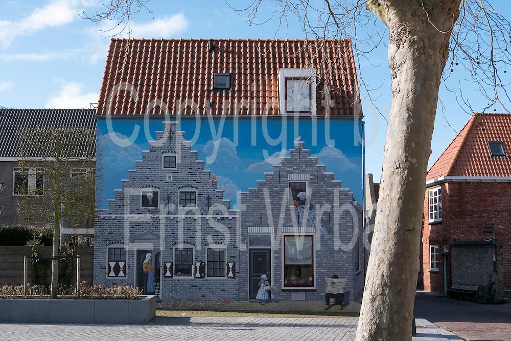 bemalte Hauswand, Zierikzee, Provinz Seeland, Niederlande | painted house, Zierikzee, Zeeland, Netherlands