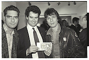 MARK STEPHEN; BOGGS, DUGGIE FIELDS PRIVATE VIEW, ALBERMARLE GALLERY, 27 OCTOBER 1987.