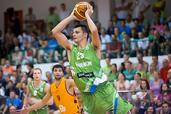 Jure Balazic of Slovenia during friendly match between National teams of Slovenia and Republic of Macedonia for Eurobasket 2013 on July 28, 2013 in Litija, Slovenia. (Photo by Vid Ponikvar / Sportida.com)