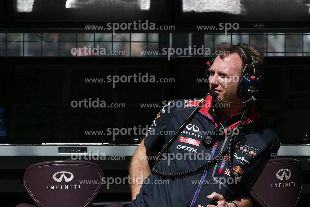 04.07.2014, Silverstone Circuit, Silverstone, ENG, FIA, Formel 1, Grand Prix von Grossbritannien, Training, im Bild Christian Horner (GBR) Red Bull Racing Team Principal // during the practice of British Formula One Grand Prix at the Silverstone Circuit in Silverstone, Great Britain on 2014/07/04. EXPA Pictures &copy; 2014, PhotoCredit: EXPA/ Sutton Images/ Davenport<br /> <br /> *****ATTENTION - for AUT, SLO, CRO, SRB, BIH, MAZ only*****