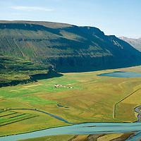 Björg séð til norðvesturs,  Þingeyjarsveit áður Ljósavatnshreppur / Bjorg viewing northwest, Thingeyjarsveit former Ljosavatnshreppur.