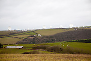 Satellite receiver dishes of GCHQ facility near Bude, Cornwall, England
