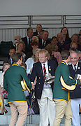 Henley, GREAT BRITAIN. {The Queen Mother Challenge Cup (M4x)]  AUS. collect their Prize from The Rt. Hon. The Lord Mayor of London. Alderman David WOTTON  at 2012 Henley Royal Regatta...{DOW}  17:55:01  01/07/2012. [Mandatory Credit, Peter Spurrier/Intersport-images]...Rowing Courses, Henley Reach, Henley, ENGLAND . HRR.