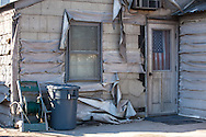 American flag on a house in Breezypoint New York where 111 homes were burnt to the ground during superstorm Sandy.