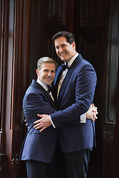 gay couple on their wedding day