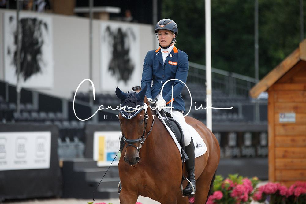 Den Dulk Nicole, (NED), Fifty Fifty<br /> Para Dressuur Finale<br /> Dutch Championship Dressage - Ermelo 2015<br /> © Hippo Foto - Dirk Caremans<br /> 19/07/15