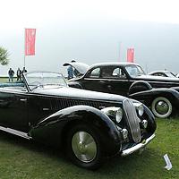 1939 Lancia Astura 4th Series Cabriolet Pininfarina with 1938 Cadillac Series 90 Coupe Fleetwood, Concorso d'Eleganza Villa d'Este Italy 2010