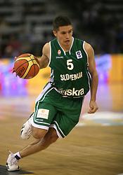 Basketball player Jaka Lakovic of Slovenia, Eurobasket 2007, Spain - Spanija, Madrid, 1.9.2007 - 16.9.2007, 2nd round, Slovenia vs Turkey. (Photo by Vid Ponikvar/Sportida) .