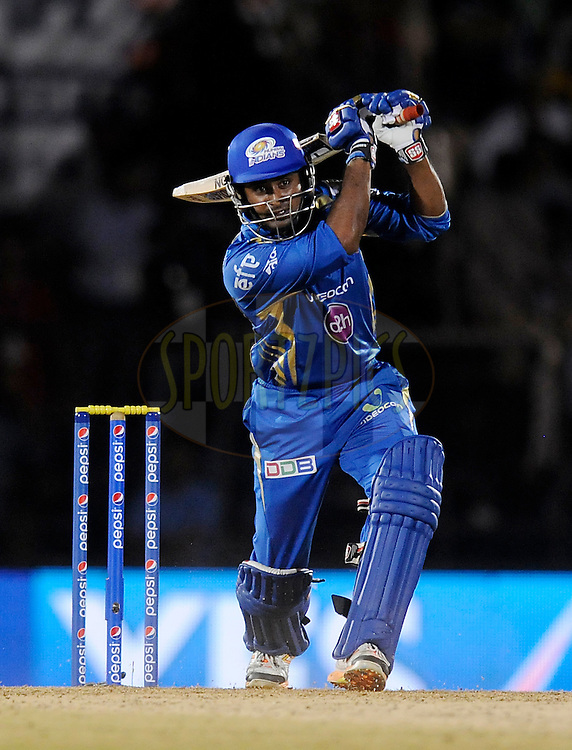 Ambati Rayudu of the Mumbai Indians bats during the eliminator match of the Pepsi Indian Premier League Season 2014 between the Chennai Superkings and the Mumbai Indians held at the Brabourne Stadium, Mumbai, India on the 28th May  2014<br /> <br /> Photo by Pal PIllai / IPL / SPORTZPICS<br /> <br /> <br /> <br /> Image use subject to terms and conditions which can be found here:  http://sportzpics.photoshelter.com/gallery/Pepsi-IPL-Image-terms-and-conditions/G00004VW1IVJ.gB0/C0000TScjhBM6ikg