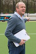 Eindhoven - Oranje Rood - Bloemendaal  Heren, Hoofdklasse Hockey Heren, Seizoen 2017-2018, 15-04-2018, Oranje Rood - Bloemendaal 1-1,  Michel van den Heuvel (Bloemendaal)<br /> <br /> (c) Willem Vernes Fotografie