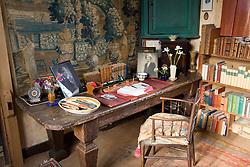 Vita Sackville-West's writng desk in the Tower at Sissinghurst Castle Garden