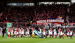 Middlesbrough and Sunderland walk out at The Riverside Stadium - Mandatory by-line: Robbie Stephenson/JMP - 26/04/2017 - FOOTBALL - Riverside Stadium - Middlesbrough, England - Middlesbrough v Sunderland - Premier League